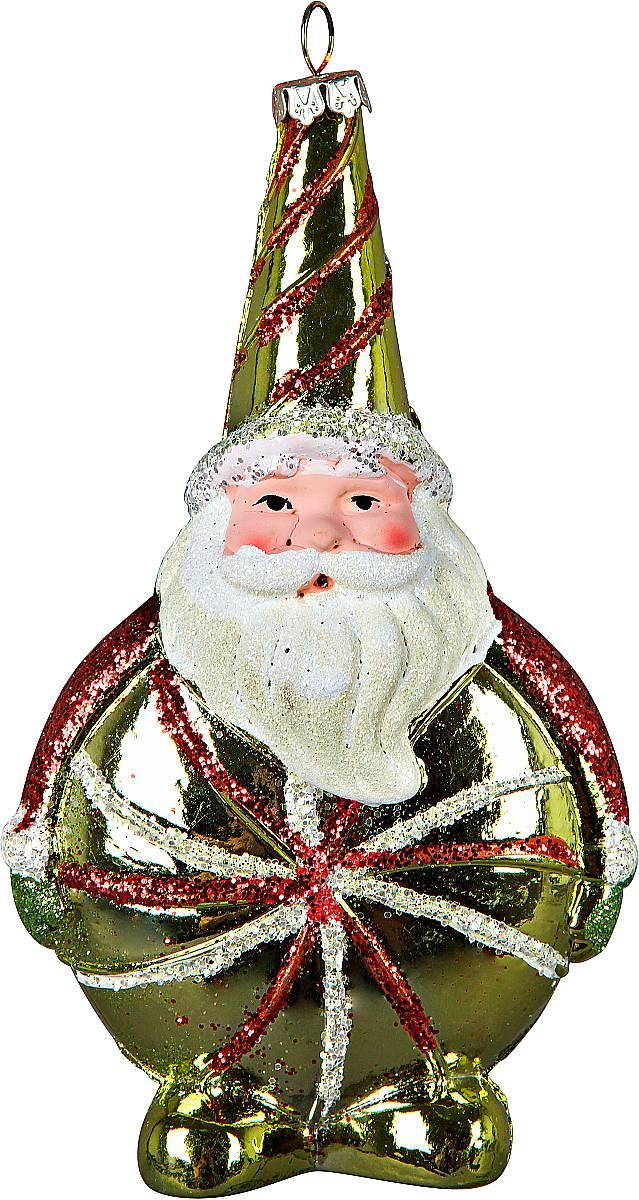 Украшение новогоднее подвесное Mister Christmas Дед Мороз, цвет: зеленый, высота 16 смCD-28Подвесное украшение Mister Christmas Дед Мороз имееторигинальный дизайн и превосходное исполнение.Изделие выполнено из пластика в виде любимоговсеми Дедушки Мороза. Большие белые усы, праздничныйколпак, добродушное выражение лица - все продумано домелочей. В качестве дополнительного декора былииспользованы блестки. Для удобного размещения наелке предусмотрена петелька. Такое украшение станет замечательным новогоднимподарком, который никого не оставит равнодушным.