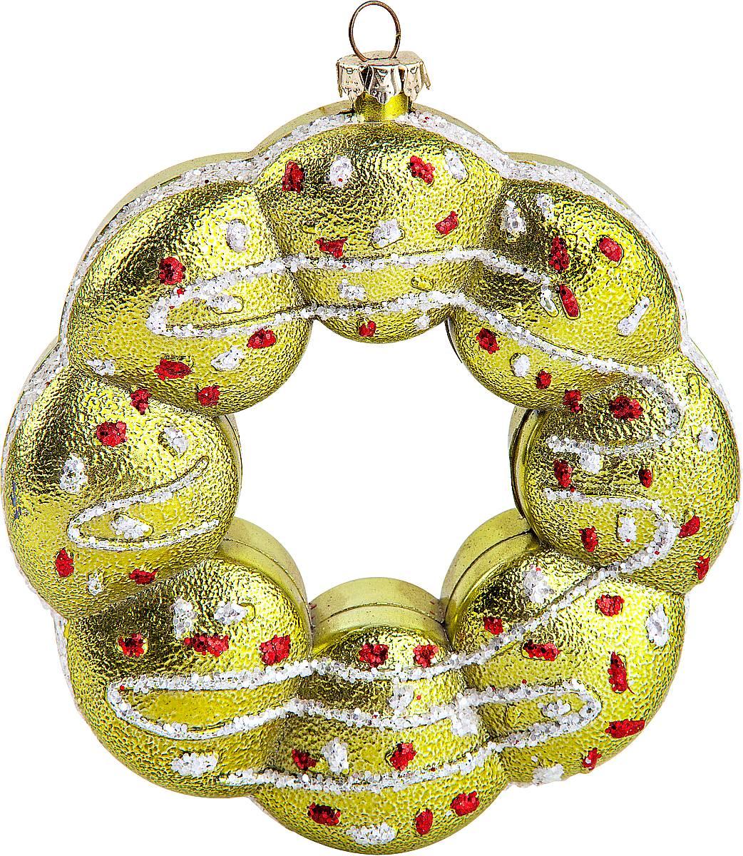 Украшение новогоднее подвесное Mister Christmas Пончик, высота 14 смCD-32Новогоднее подвесное украшение Mister Christmas Пончик прекрасно подойдет для праздничного декора новогодней ели. Украшение выполнено из пластика. Для удобного размещения на елке предусмотрена петелька. Елочная игрушка - символ Нового года. Она несет в себе волшебство и красоту праздника. Создайте в своем доме атмосферу веселья и радости, украшая новогоднюю елку нарядными игрушками, которые будут из года в год накапливать теплоту воспоминаний.