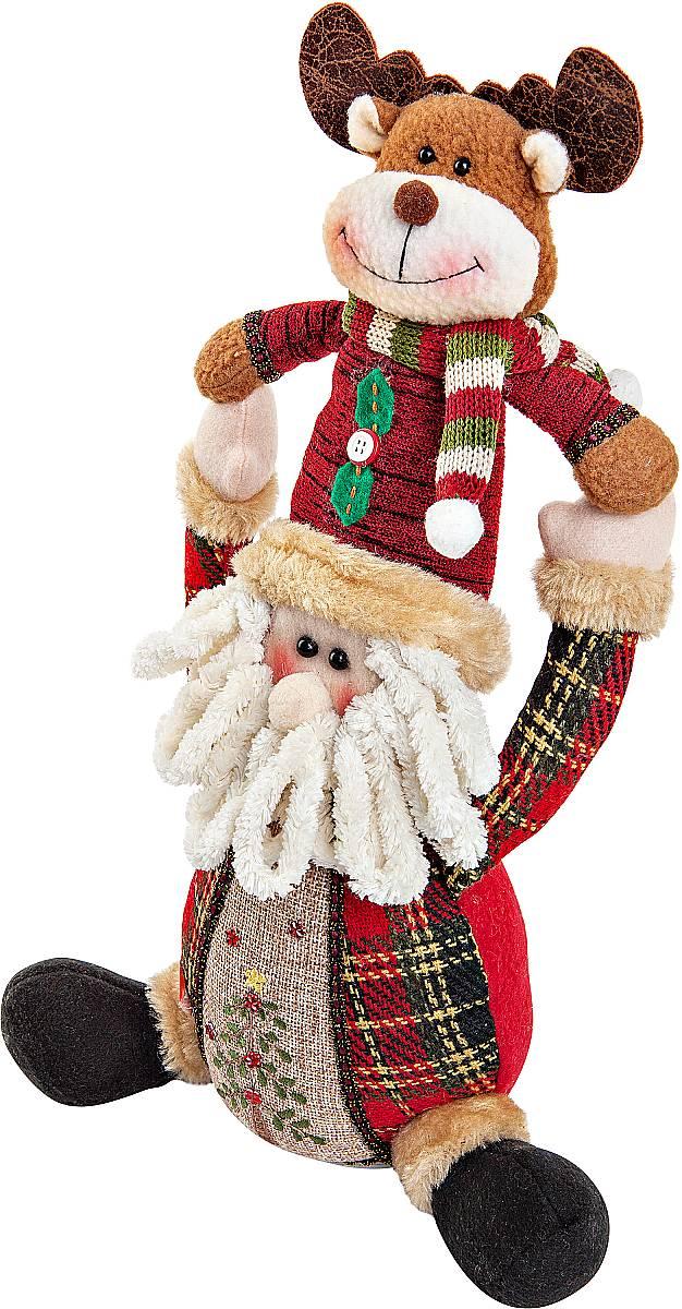 """Новогодняя пляшущая и поющая игрушка """"Mister Christmas"""" послужит оригинальным подарком в преддверии Нового года.  Внешний вид сувенира весьма незатейлив. Изделие выполнено в виде Деда Мороза и оленя. При нажатии игрушка начинает двигаться в такт рождественской песни (Jingle Bells). Несмотря на столь ритмичные движения, механизм игрушки прослужит очень и очень долго. Все материалы, входящие в состав игрушки, прошли тщательные проверки и отличаются высочайшим качеством. Так же стоит отметить и то, что все материалы экологичны и безопасны. Работает от батареек (входят в комплект). Собираясь на празднование Нового года, прихватите с собой новогоднюю музыкальную игрушку """"Mister Christmas"""", ведь это подарок, который говорит сам за себя!  Высота игрушки: 30 см."""