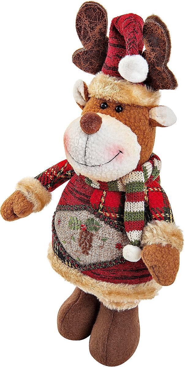 Игрушка новогодняя мягкая Mister Christmas Олень, высота 28 смCHL-500DRМягкая новогодняя игрушка Mister Christmas Олень, изготовленная из текстиля, прекрасно подойдет для праздничного декора дома. Изделие можно разместить в любом понравившемся вам месте. Новогодняя игрушка несет в себе волшебство и красоту праздника. Создайте в своем доме атмосферу веселья и радости, украшая дом красивыми игрушками, которые будут из года в год накапливать теплоту воспоминаний.Высота игрушки: 28 см.