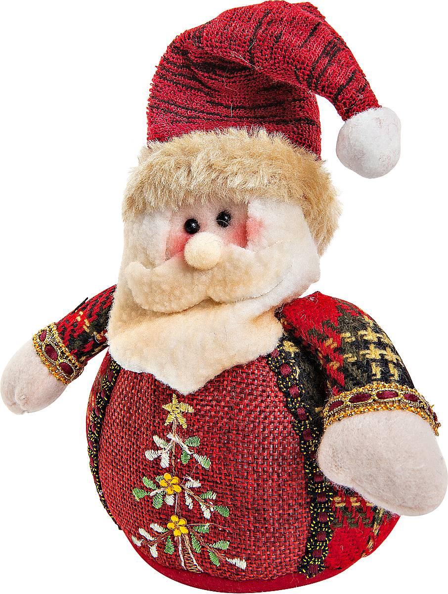 Игрушка новогодняя мягкая Mister Christmas Дед Мороз, высота 12 см набор подсвечников mister christmas дед мороз высота 22 5 см 2 шт