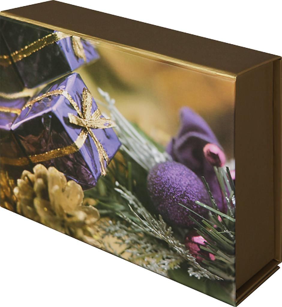 Коробка подарочная Mister Christmas, складная, 15,5 х 19,5 х 6,5 см. GH-FB-1GH-FB-1