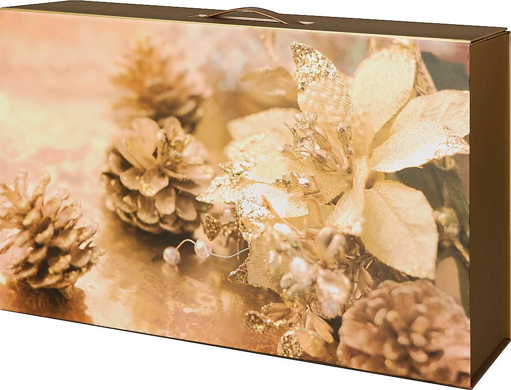 Коробка подарочная Mister Christmas, складная, 41 х 27 х 8,8 смGH-FB-4Подарочная складная Mister Christmas выполнена изпрочного картона. Простой новогодний принт, сочетаниецветов, использованных в дизайне упаковки, делают еестильной и изящной. В нее можно положить подарок самойразной ценности, главное, чтобы он подходил поразмерам.Подарочная коробка Mister Christmas наполненановогодним духом и задает праздничное настроение.Спокойный ненавязчивый рисунок делает коробкустильным завершением новогоднего подарка. Друзья,клиенты и коллеги по достоинству оценят такойзнак внимания.