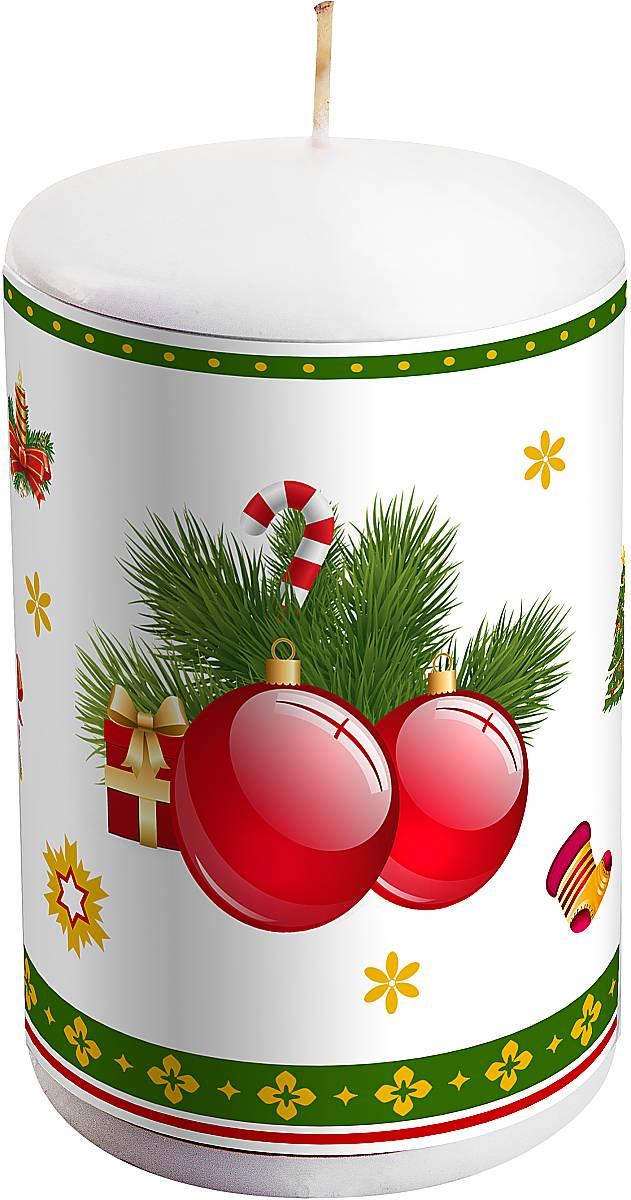 """Новогодняя свеча Mister Christmas """"Шары"""" выполнена из  воска. Изделие декорировано рисунком в зимней тематике.  Такая свеча красиво дополнит интерьер  вашего дома в преддверии Нового года.  Создайте для себя и своих близких незабываемую  атмосферу праздника и уюта в доме."""