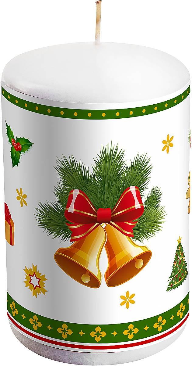 Свеча новогодняя Mister Christmas Колокольчики, высота 10 смKG-1BНовогодняя свеча Mister Christmas Колокольчики выполнена из воска. Изделие декорировано рисунком в зимней тематике. Такая свеча красиво дополнит интерьер вашего дома в преддверии Нового года. Создайте для себя и своих близких незабываемую атмосферу праздника и уюта в доме.