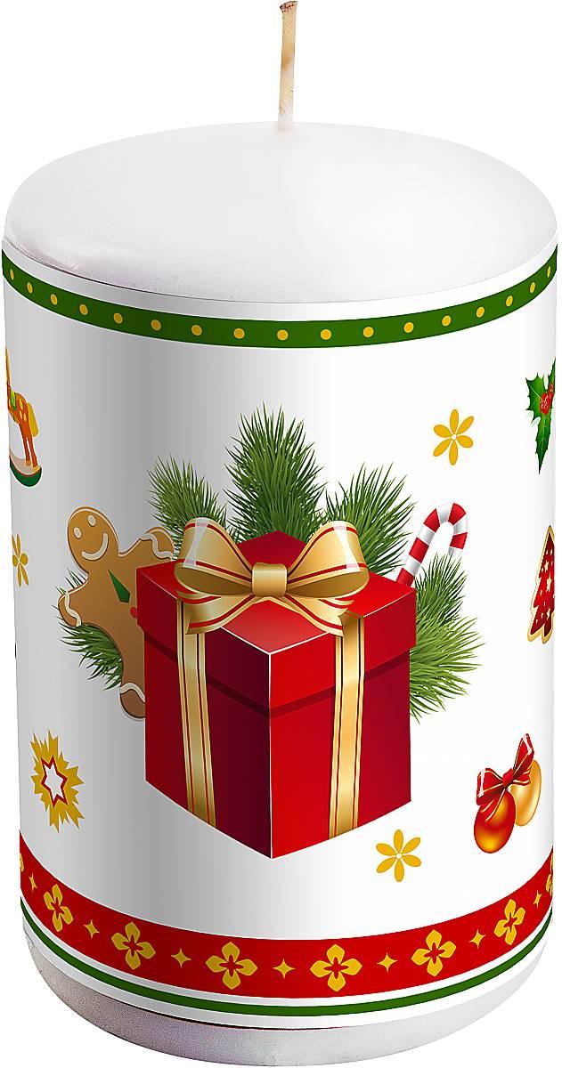 Свеча новогодняя Mister Christmas Подарок, высота 10 смKG-1CНовогодняя свеча Mister Christmas Подарок выполнена из воска. Изделие декорировано рисунком в зимней тематике. Такая свеча красиво дополнит интерьер вашего дома в преддверии Нового года. Создайте для себя и своих близких незабываемую атмосферу праздника и уюта в доме.