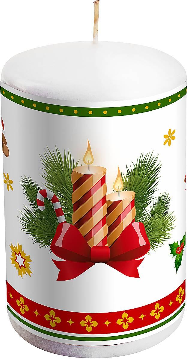 Свеча праздничная Mister Christmas Новогодняя, высота 10 см. KG-1DKG-1D