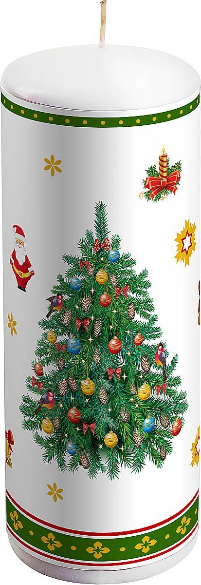 Свеча новогодняя Mister Christmas Елка, высота 15 смKG-2AНовогодняя свеча Mister Christmas Елка выполнена из воска. Изделие декорировано рисунком в новогодней тематике. Такая свеча красиво дополнит интерьер вашего дома в преддверии Нового года. Создайте для себя и своих близких незабываемую атмосферу праздника и уюта в доме.