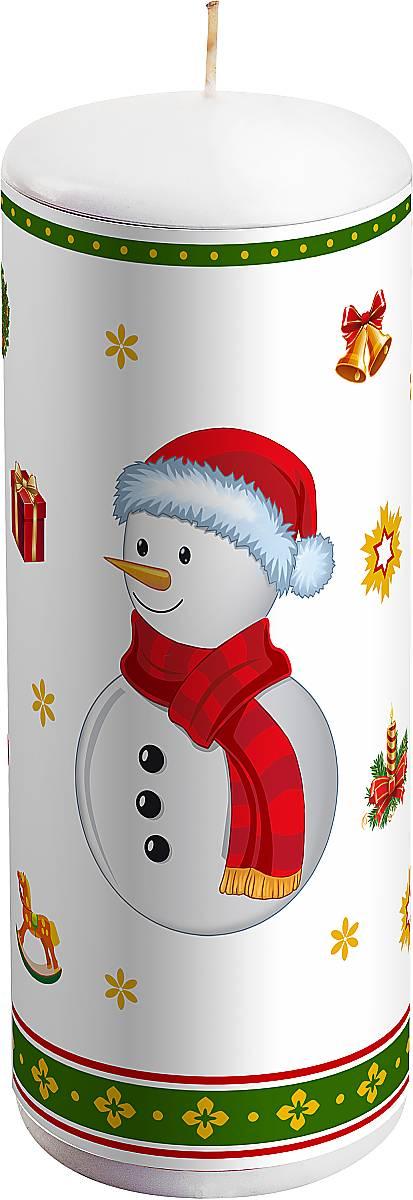 Свеча новогодняя Mister Christmas Снеговик, высота 15 смKG-2BНовогодняя свеча Mister Christmas Снеговик выполнена из воска. Изделие декорировано рисунком в новогодней тематике. Такая свеча красиво дополнит интерьер вашего дома в преддверии Нового года. Создайте для себя и своих близких незабываемую атмосферу праздника и уюта в доме.