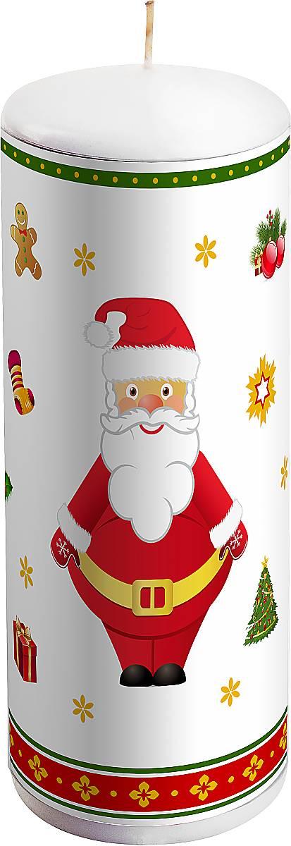 Свеча новогодняя Mister Christmas Дед Мороз, высота 15 смKG-2CНовогодняя свеча Mister Christmas Дед Мороз выполнена из воска. Изделие декорировано рисунком в новогодней тематике. Такая свеча красиво дополнит интерьер вашего дома в преддверии Нового года. Создайте для себя и своих близких незабываемую атмосферу праздника и уюта в доме.