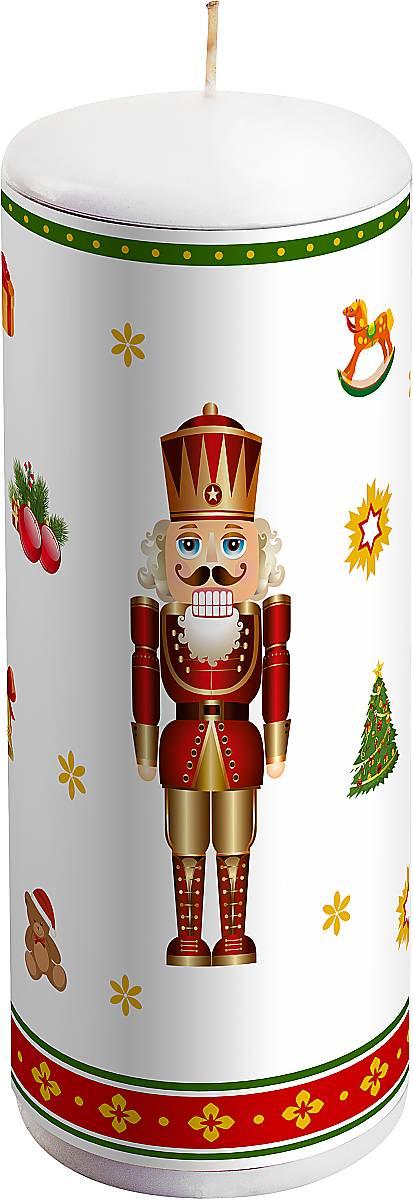 Свеча новогодняя Mister Christmas Щелкунчик, высота 15 смKG-2DНовогодняя свеча Mister Christmas Щелкунчик выполненаизвоска. Изделие декорировано рисунком в новогоднейтематике.Такая свеча красиво дополнит интерьервашего дома в преддверии Нового года.Создайте для себя и своих близких незабываемуюатмосферу праздника и уюта в доме.