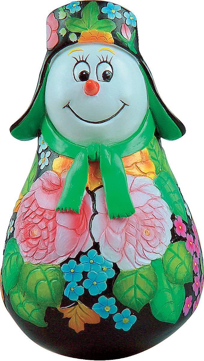 Фигурка-неваляшка новогодняя Mister Christmas Снеговик, высота 11 см. MKM-06MKM-06Новогодняя фигурка-неваляшка Mister Christmas Снеговик выполнена из высококачественного полистоуна и украшена цветами и элементами старинной жостовской росписи. Изделие представлено виде улыбчивого снеговика, который одет в шапку-ушанку и шарф. Игрушка изготовлена полностью вручную, что делает ее не только оригинальным, но эксклюзивным сувениром. Такая фигурка оформит интерьер вашего дома или офиса в преддверии Нового года. Кроме того, это отличный вариант подарка для ваших близких и друзей.Высота: 11 см.