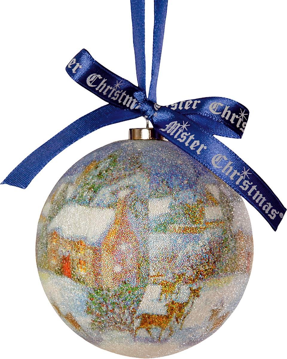 Украшение новогоднее подвесное Mister Christmas Папье-маше, диаметр 7,5 см. PM-12-1TPM-12-1TПодвесное украшение Mister Christmas Папье-машевыполнено вручную из бумаги и покрыто мелкойпластиковой крошкой. Такой шар очень легкий, но в тоже время удивительно прочный. На создание одной такойигрушки уходит несколько дней. И в результате получаетсянастоящее произведение искусства!Изделие оснащено атласной ленточкой с логотипомбренда Mister Christmas для подвешивания.Такое украшение станет превосходным подарком кНовому году, а так же дополнит коллекцию оригинальныхновогодних елочных игрушек.