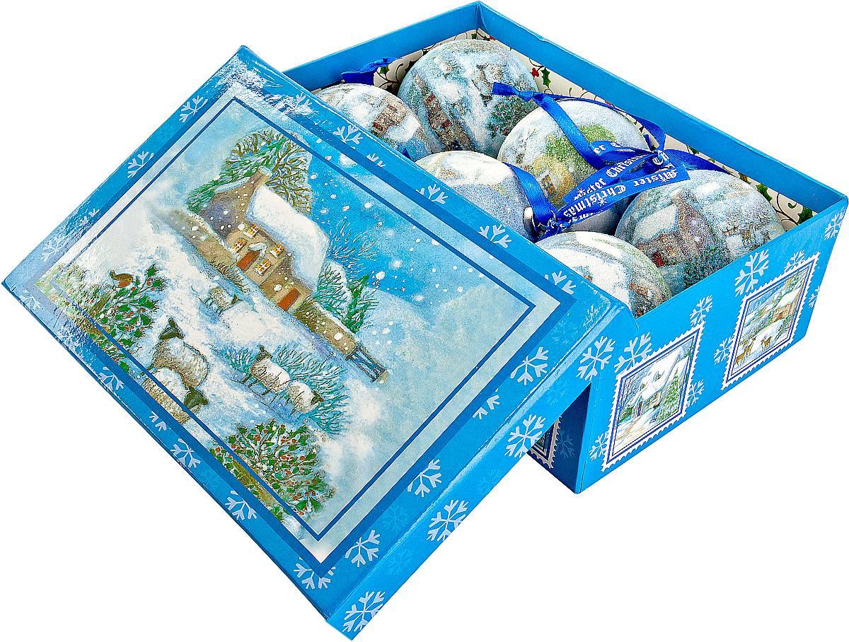 Набор новогодних подвесных украшений Mister Christmas Папье-маше, диаметр 7,5 см, 6 шт. PM-12-6PM-12-6Набор из 6 подвесных украшений Mister Christmas Папье-маше прекрасно подойдет для праздничного декора новогодней ели. Изделия, выполненные из бумаги и покрытые несколькими слоями лака, очень прочные и легкие. Такие шары создадут единый стиль в оформлении не только ели, но и интерьера вашего дома. В наборе игрушки имеют глянцевую поверхность и покрытые мелкой пластиковой крошкой.Все изделия оснащены атласной ленточкой с логотипом бренда Mister Christmas для подвешивания. Такие украшения станут превосходным подарком к Новому году, а так же дополнят коллекцию оригинальных новогодних елочных игрушек.