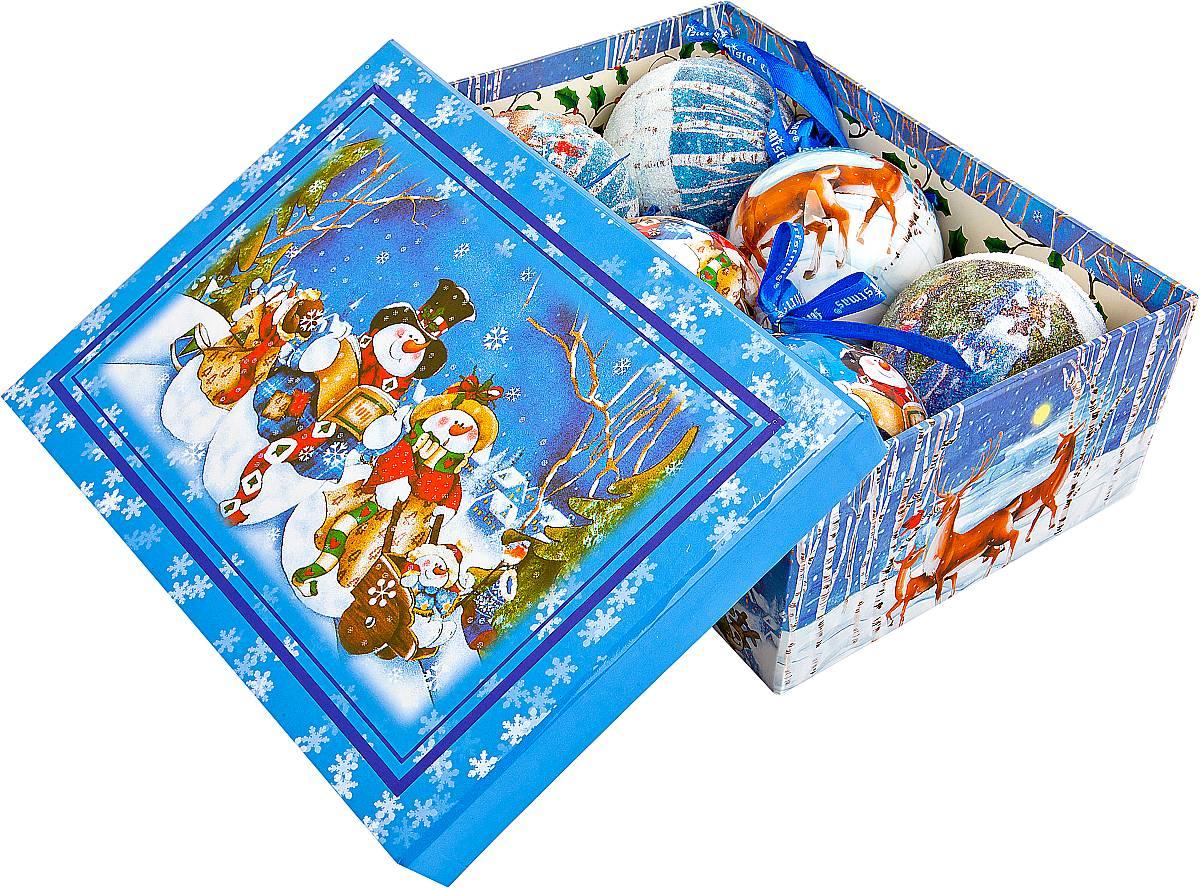 Набор новогодних подвесных украшений Mister Christmas Папье-маше, диаметр 7,5 см, 6 шт. PM-2-6PM-2-6Набор из 6 подвесных украшений Mister Christmas Папье-маше прекрасно подойдет для праздничного декора новогодней ели. Изделия, выполненные из бумаги и покрытые несколькими слоями лака, очень прочные и легкие. Такие шары создадут единый стиль в оформлении не только ели, но и интерьера вашего дома. В наборе игрушки имеют глянцевую поверхность и покрытые мелкой пластиковой крошкой.Все изделия оснащены атласной ленточкой с логотипом бренда Mister Christmas для подвешивания. Такие украшения станут превосходным подарком к Новому году, а так же дополнят коллекцию оригинальных новогодних елочных игрушек.