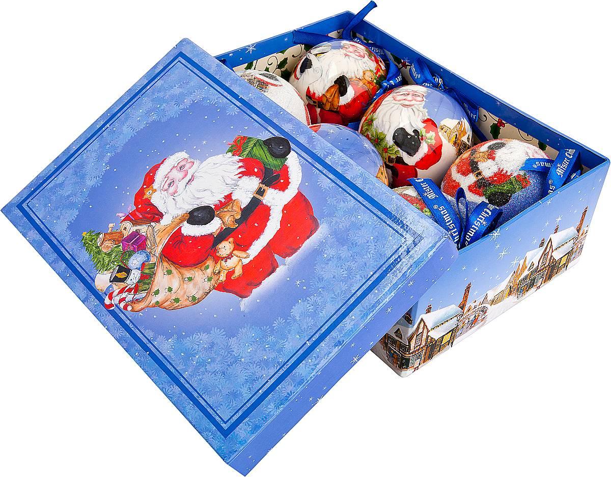 Набор новогодних подвесных украшений Mister Christmas Папье-маше, диаметр 7,5 см, 6 шт. PM-3-6PM-3-6Набор из 6 подвесных украшений Mister Christmas Папье-маше прекрасно подойдет для праздничного декора новогодней ели. Изделия, выполненные из бумаги и покрытые несколькими слоями лака, очень прочные и легкие. Такие шары создадут единый стиль в оформлении не только ели, но и интерьера вашего дома. В наборе игрушки имеют глянцевую поверхность и покрытые мелкой пластиковой крошкой.Все изделия оснащены атласной ленточкой с логотипом бренда Mister Christmas для подвешивания. Такие украшения станут превосходным подарком к Новому году, а так же дополнят коллекцию оригинальных новогодних елочных игрушек.
