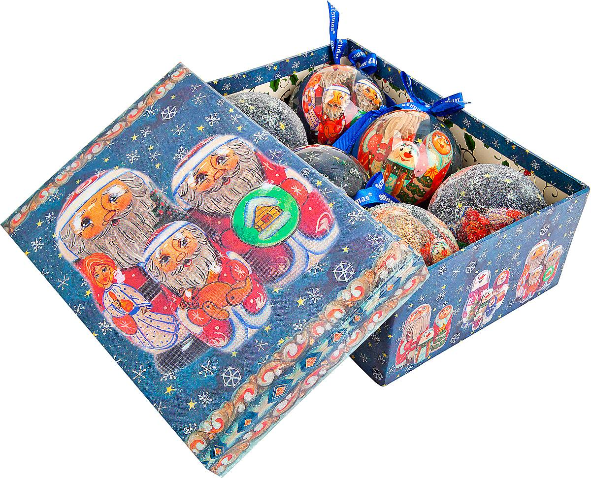 Набор новогодних подвесных украшений Mister Christmas Папье-маше, диаметр 7,5 см, 6 шт. PM-5-6PM-5-6Набор Mister Christmas Папье-маше состоит из 6 подвесных украшений ручной работы, которые изготовлены в технике папье-маше. Такие шары очень легкие, но в то же время удивительно прочные. На создание одной такой игрушки уходит несколько дней. И в результате получается настоящее произведение искусства! Все изделия оснащены атласной ленточкой с логотипом бренда Mister Christmas для подвешивания. Такие украшения станут превосходным подарком к Новому году, а так же дополнят коллекцию оригинальных новогодних елочных игрушек.