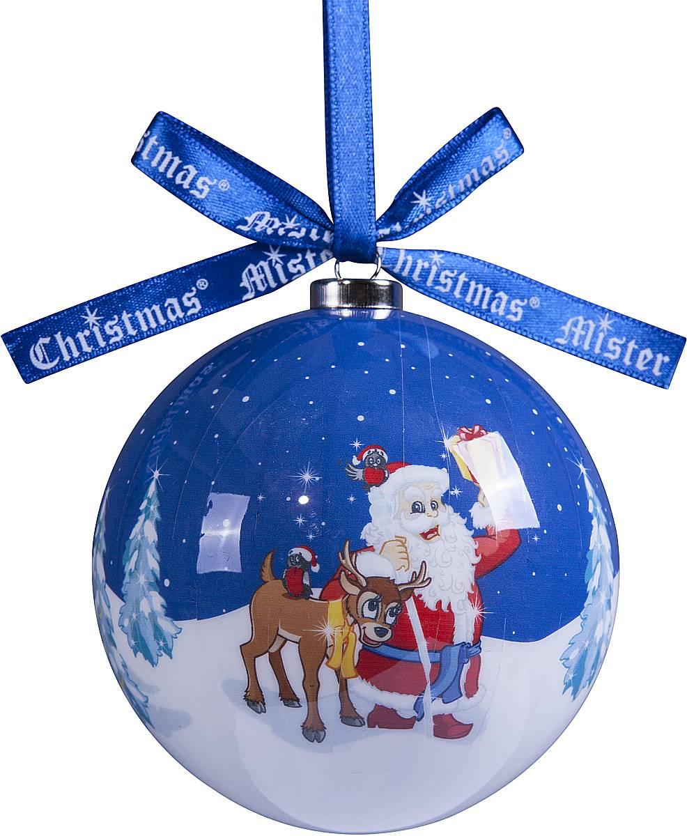 Украшение новогоднее подвесное Mister Christmas Папье-маше, диаметр 7,5 см. PM-52PM-52Подвесное украшение Mister Christmas Папье-маше выполнено вручную из бумаги и покрыто несколькими слоями лака. Такой шар очень легкий, но в то же время удивительно прочный. На создание одной такой игрушки уходит несколько дней. И в результате получается настоящее произведение искусства! Изделие оснащено атласной ленточкой с логотипом бренда Mister Christmas для подвешивания. Такое украшение станет превосходным подарком к Новому году, а так же дополнит коллекцию оригинальных новогодних елочных игрушек.