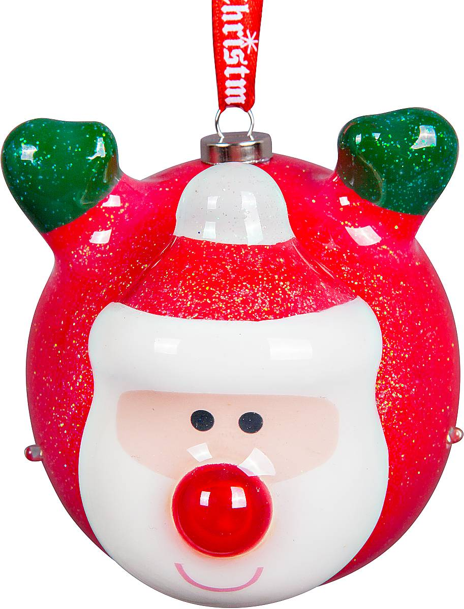 Украшение новогоднее подвесное Mister Christmas Папье-маше, с подсветкой, цвет: красный, белый, зеленый, диаметр 8 смPMD-1Подвесное украшение Mister Christmas Папье-маше выполнено в старинной технике папье-маше. Это искусство изготовления новогодних игрушек насчитывает уже немало веков и очень популярно во всем мире. Такой шар отличается прочностью и не боится случайных падений на пол, а также можно спокойно доверить в руки ребенку и не переживать об осколках. Изделие оснащено подсветкой в виде мерцающих огоньков и специальной металлической петелькой, в которую можно продеть нитку или ленту для подвешивания.Елочная игрушка - символ Нового года. Она несет в себе волшебство и красоту праздника. Создайте в своем доме атмосферу веселья и радости, украшая всей семьей новогоднюю елку нарядными игрушками, которые будут из года в год накапливать теплоту воспоминаний.