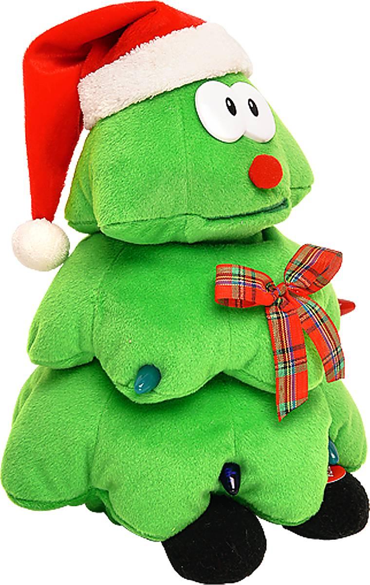 Игрушка новогодняя Mister Christmas Елка, электромеханическая, высота 28 смSL-TREEПрекрасным подарком, который способен порадовать как детей, так и взрослых, станет мягкая игрушка Mister Christmas Елка. Она выполнена из плюша и набита синтепоном и украшена светодиодными лампами, имитирующими гирлянду. Эта елка не просто новогоднее деревце, это настоящая мягкая игрушка с забавной мордочкой, одетая в колпак Санты Клауса и ботиночки. Дополнительным декоративным элементом выступает элегантная лента шотландка. Мягкая игрушка Mister Christmas Елка исполняет заводную песенку и совершает танцевальные движения. Работает от батареек (входят в комплект). Материалы, входящие в состав сувенира отвечают самым высочайшим требованиям. Наслаждаться мелодией и танцем можно до бесконечности - игрушка оснащена надежнейшим механизмом, который прослужит ни один день, необходимо лишь вовремя заменять батарейку. Спешите порадовать себя и своих близких ярким и оригинальным подарком.Высота игрушки: 28 см.