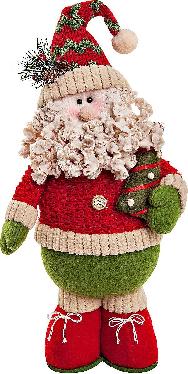 Игрушка новогодняя мягкая Mister Christmas Дед Мороз, высота 38 см набор подсвечников mister christmas дед мороз высота 22 5 см 2 шт