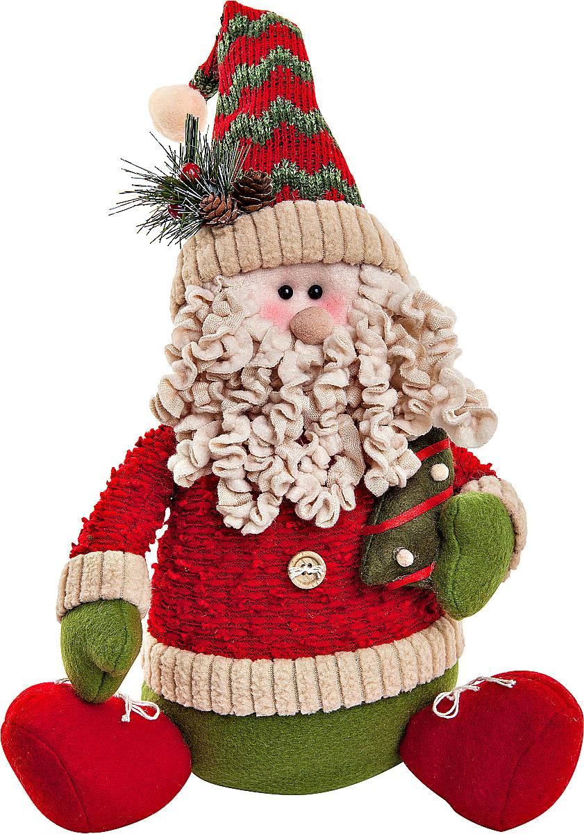 Игрушка новогодняя мягкая Mister Christmas Дед Мороз, высота 35 см набор подсвечников mister christmas дед мороз высота 22 5 см 2 шт