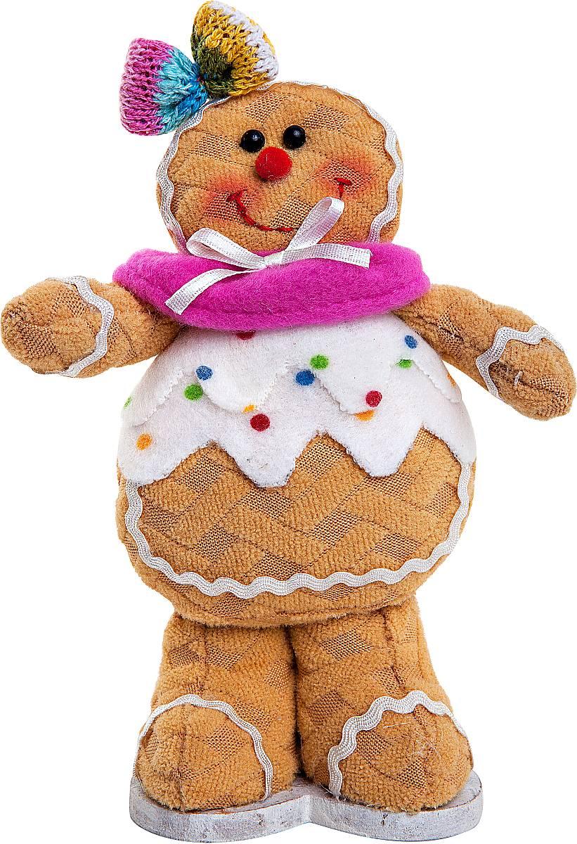 Игрушка новогодняя мягкая Mister Christmas Пряничная девочка, высота 17 смSPP-13-WМягкая новогодняя игрушка Mister Christmas Пряничная девочка, изготовленная из текстиля, прекрасно подойдет для праздничного декора дома. Изделие можно разместить в любом понравившемся вам месте. Новогодняя игрушка несет в себе волшебство и красоту праздника. Создайте в своем доме атмосферу веселья и радости, украшая дом красивыми игрушками, которые будут из года в год накапливать теплоту воспоминаний.Высота игрушки: 17 см.