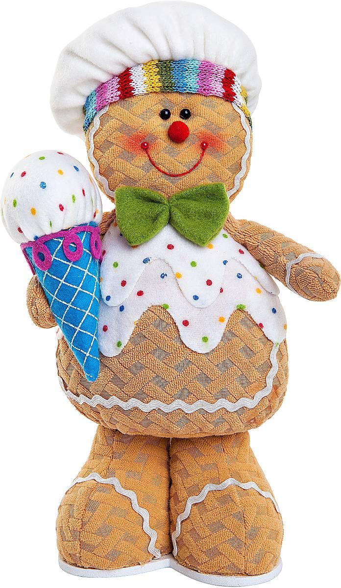 Игрушка новогодняя мягкая Mister Christmas Пряничный мальчик, высота 32 смSPP-14-MМягкая новогодняя игрушка Mister Christmas Пряничный мальчик, изготовленная из текстиля, прекрасно подойдет для праздничного декора дома. Изделие можно разместить в любом понравившемся вам месте. Новогодняя игрушка несет в себе волшебство и красоту праздника. Создайте в своем доме атмосферу веселья и радости, украшая дом красивыми игрушками, которые будут из года в год накапливать теплоту воспоминаний.Высота игрушки: 32 см.