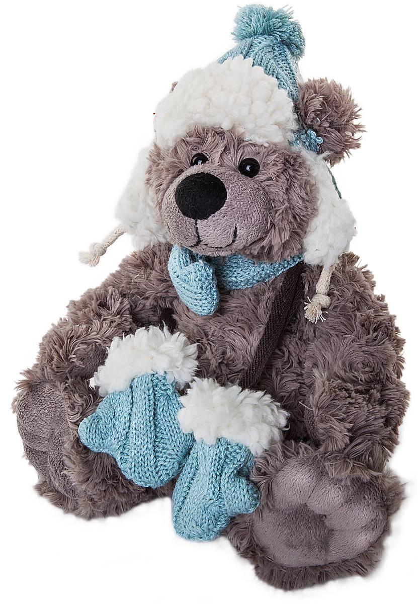 Игрушка новогодняя мягкая Mister Christmas Медвежонок, высота 20 см. WD-DG-B2 новогодняя игрушка снежинка