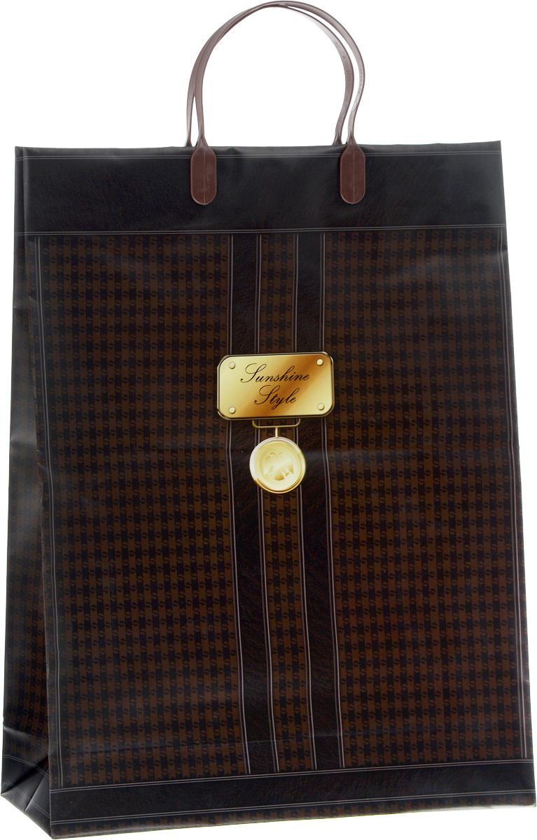 Пакет подарочный Bello, цвет: темно-коричневый, коричневый, золотой, 32 х 10 х 42 см. BAL 101BAL 101Подарочный пакет Bello, изготовленный из пищевого полипропилена, станет незаменимым дополнением к выбранному подарку. Дно изделия укреплено плотным картоном, который позволяет сохранить форму пакета и исключает возможность деформации дна под тяжестью подарка. Для удобной переноски на пакете имеются две пластиковые ручки.Подарок, преподнесенный в оригинальной упаковке, всегда будет самым эффектным и запоминающимся. Окружите близких людей вниманием и заботой, вручив презент в нарядном, праздничном оформлении.Грузоподъемность: 12 кг.Морозостойкость: до -30°С.