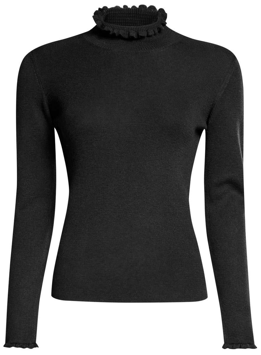 Водолазка женская oodji Ultra, цвет: черный. 64412190/46039/2900N. Размер XL (50) oodji водолазки