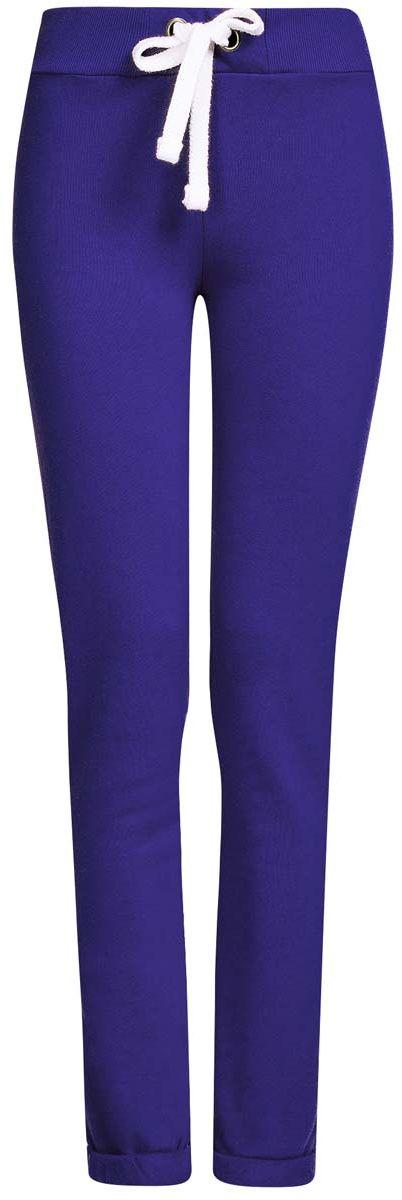 Купить Брюки спортивные женские oodji Ultra, цвет: синий. 16701010B/46980/7500N. Размер M (46)