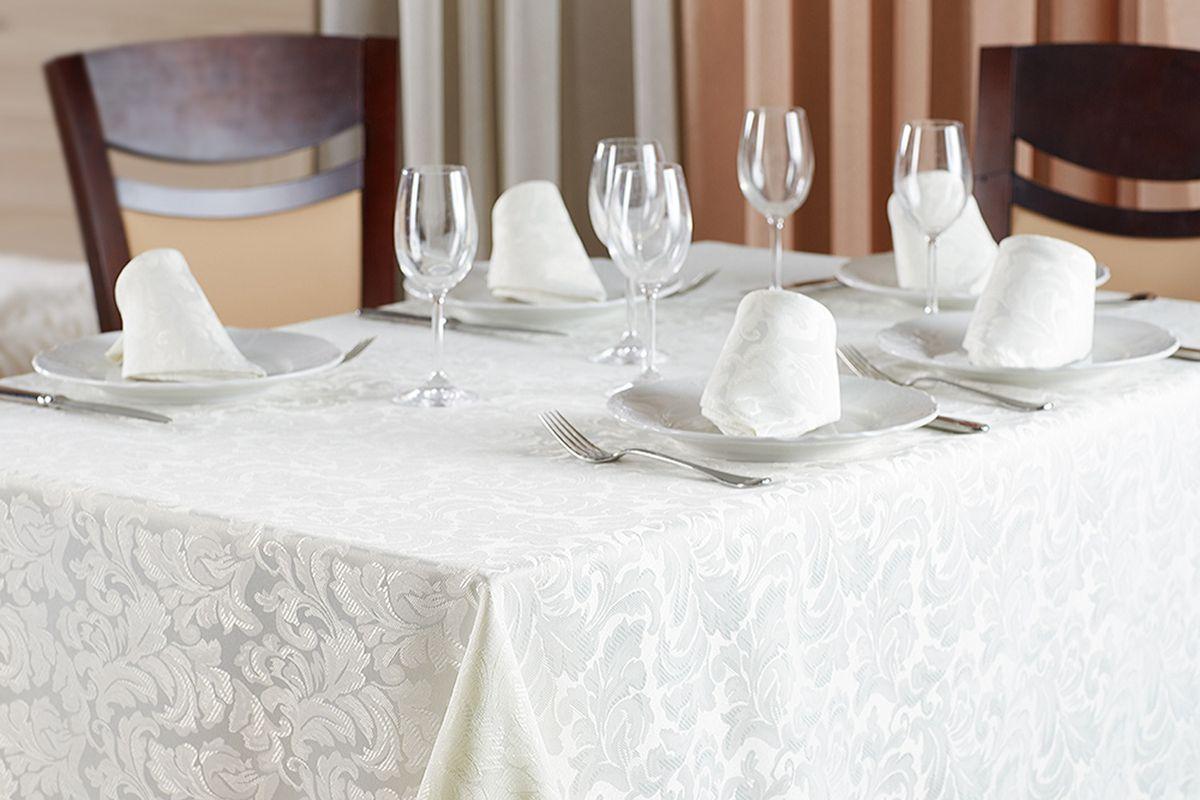 Набор столового белья Primavelle Sofia, цвет: слоновая кость, 7 предметов салфетки la pastel набор вафельных салфеток цветы 6 предметов 28х34