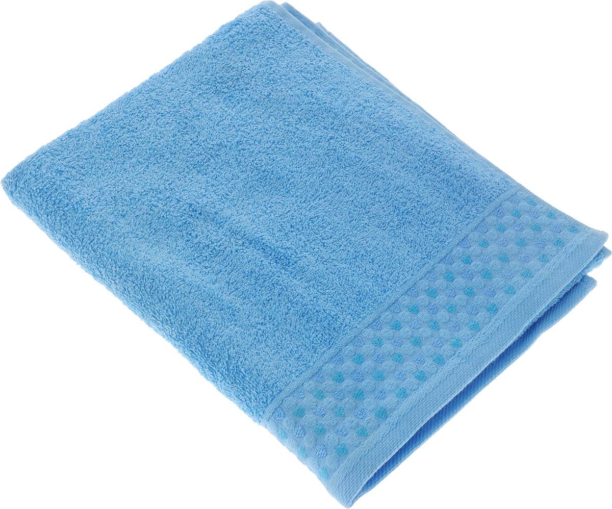 Полотенце Tete-a-Tete Сердечки, цвет: голубой, 50 х 90 см