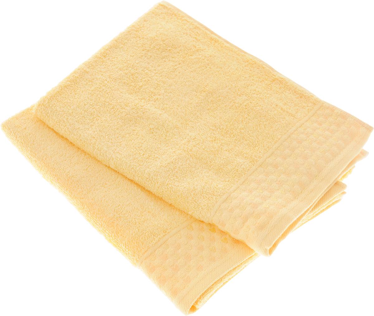 Набор полотенец Tete-a-Tete Сердечки, цвет: желтый, 50 х 90 см, 2 шт