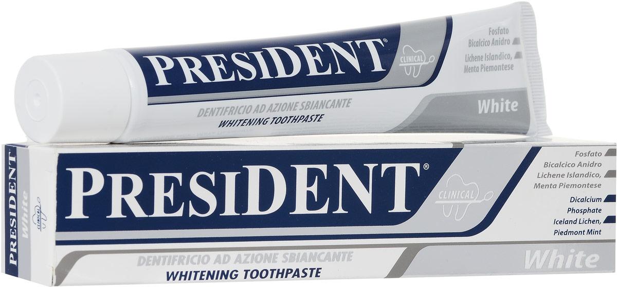Зубная паста President White, 75 мл4310-502054Зубная паста President White способствует реминерализации эмали наряду с отбеливанием. Бережно полирует эмаль, защищает от темного налета, нейтрализует запах табака. Подходит для ежедневного применения, не разрушает эмаль зубов. Не содержит пероксида водорода и карбамида, жестких абразивных компонентов, разрушающих ферментов. Не содержит агрессивных антибактериальных агентов. Характеристики:Объем: 75 мл. Размер упаковки: 19 см х 4 см х 3 см. Производитель: Италия.Артикул:4310-502054.Товар сертифицирован.Уважаемые клиенты!Обращаем ваше внимание на возможные изменения в дизайне упаковки. Качественные характеристики товара остаются неизменными. Поставка осуществляется в зависимости от наличия на складе.