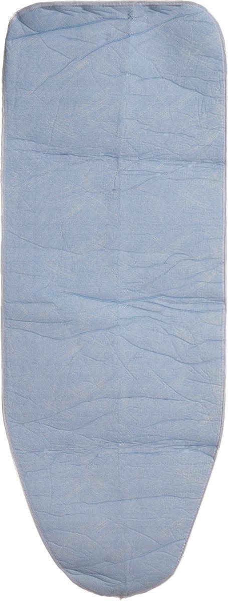 Чехол для гладильной доски Paterra, антипригарный, с поролоном, цвет: голубой, белый, 126 х 46 см402-485Антипригарный чехол для гладильной доски Paterra необходим для обеспечения идеального результата в процессе глажения вещей. Он имеет хлопковую основу с особой антипригарной пропиткой из силикона, которая исключает пригорание одежды к чехлу в процессе глажения. Силиконовая пропитка обеспечивает эффект двустороннего глажения: чехол, нагреваясь, отдает тепло вещам. Натуральный хлопок в составе обеспечивает максимальную скорость скольжения утюга и 100% паропроницаемость. Хлопковый чехол имеет подкладку из поролона (мягкого пенополиуретана) оптимальной толщины (4 мм), которая не истончается со временем. Затяжной шнур определяет удобную и надежную фиксацию чехла на доске. Кроме того, наличие шнура делает чехол пригодным для гладильной доски любой формы и меньшего размера. Край хлопкового чехла обработан особой лентой, предотвращающей распускание ткани. Устойчивый рисунок сохраняется длительное время, даже под воздействием высоких температур.Размер чехла: 126 х 46 см.Размер подходящей доски: 125 х 38 см.Толщина подкладки: 4 мм.
