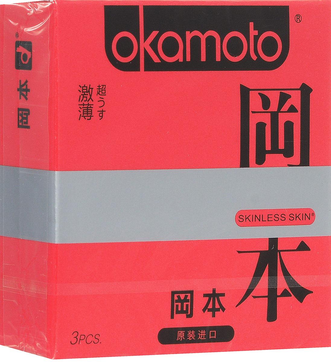 Презервативы Okamoto Skinless Skin Super Thin, ультратонкие, No.368969Самые тонкие латексные презервативы в мире особой анатомической формы со смазкой! Толщина стенки презерватива всего 0,052 мм, что в 2 раза тоньше, чем у обычных презервативов. Подарят незабываемые ощущения естественности. Уникальной анатомической формы с силиконовой смазкой.