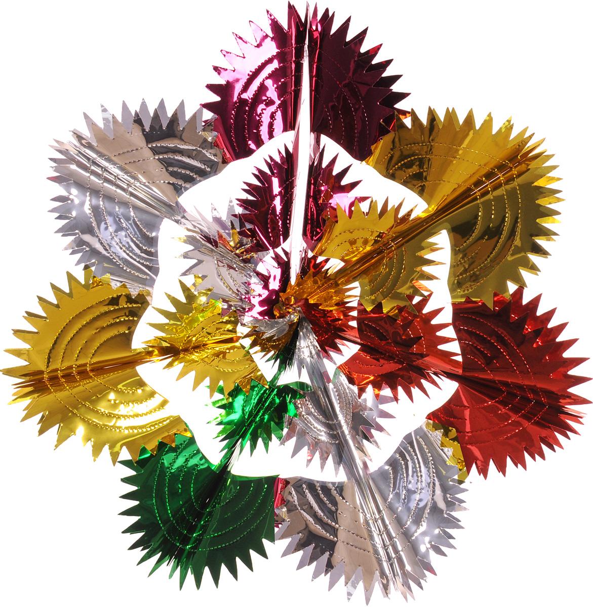 Украшение новогоднее подвесное Winter Wings Сияние, диаметр 60 смN09178Новогоднее подвесное украшение Winter Wings Сияние, выполненное из ПВХ в виде разноцветной ажурной снежинки, прекрасно подойдет для праздничного декора дома. С помощью специальной петельки украшение можно подвесить в любом понравившемся вам месте. Легко складывается и раскладывается.Новогодние украшения несут в себе волшебство и красоту праздника. Они помогут вам украсить дом к предстоящим праздникам и оживить интерьер по вашему вкусу. Создайте в доме атмосферу тепла, веселья и радости, украшая его всей семьей.