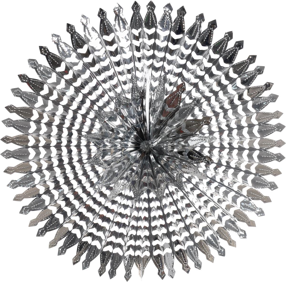 Украшение новогоднее подвесное Winter Wings Радуга, цвет: серебристый, диаметр 51 смN09182_сереброНовогоднее подвесное украшение Winter Wings Радуга, выполненное из ПВХ в виде ажурной снежинки, прекрасно подойдет для праздничного декора дома. С помощью специальной петельки украшение можно подвесить в любом понравившемся вам месте. Легко складывается и раскладывается. Новогодние украшения несут в себе волшебство и красоту праздника. Они помогут вам украсить дом к предстоящим праздникам и оживить интерьер по вашему вкусу. Создайте в доме атмосферу тепла, веселья и радости, украшая его всей семьей.