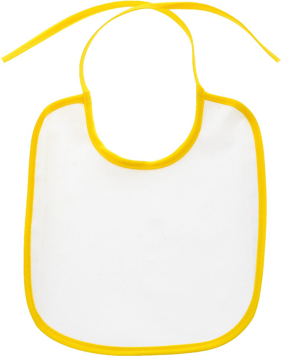 Колорит Нагрудник 20 см х 22 см цвет белый желтый