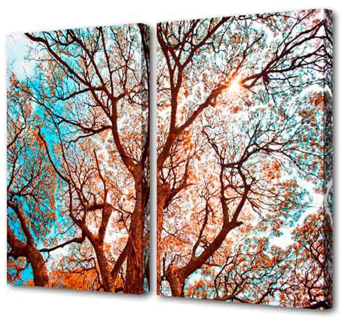 Картина модульная Toplight Природа, 100 х 75 см. TL-M2012TL-M2012Модульная картина Toplight Природа выполнена из синтетического полотна, подрамник из МДФ. Картина состоит из двух частей и выглядит очень аккуратно и эстетично благодаря такому способу оформления как галерейная натяжка. Подрамник исключает провисание полотна. Современные технологии, уникальное оборудование и цифровая печать, используемые в производстве, делают постер устойчивым к выцветанию и обеспечивают исключительное качество произведений. Благодаря наличию необходимых креплений в комплекте установка не займет много времени. Модульная картина - это прекрасная возможность создать яркий акцент при оформлении любого помещения. Изделие обязательно привлечет внимание и подарит немало приятных впечатлений своим обладателям. Правила ухода: можно протирать сухой, мягкой тканью. Рекомендованное расстояние между сегментами: 2 см. Толщина подрамника: 3 см.