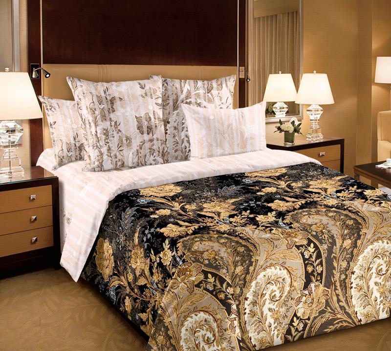 Комплект белья Текс-Дизайн Музей 5, 1,5-спальный, наволочки 70х701250ПВеликолепное постельное белье Текс-Дизайн Музей 5 выполнено из высококачественного перкаля (100% хлопок) и украшено роскошным цветочным узором. Комплект состоит из двух пододеяльников, простыни и двух наволочек. Перкаль - это тонкая и легкая хлопчатобумажная ткань высокой плотности полотняного переплетения, сотканная из пряжи высоких номеров. При изготовлении перкаля используются длинноволокнистые сорта хлопка, что обеспечивает высокие потребительские свойства материала. Несмотря на свою утонченность, перкаль очень практичен - это одна из самых износостойких тканей для постельного белья.