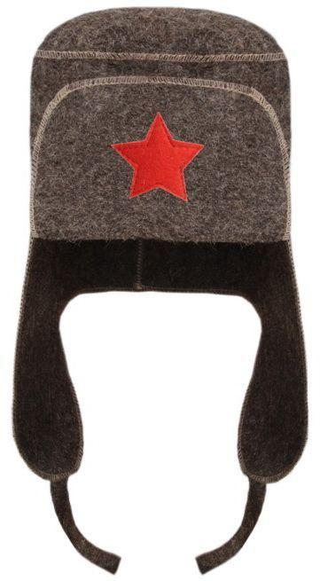 Шапка для бани и сауны Ушанка, цвет: серый шапка для бани и сауны доктор баня классическая кант