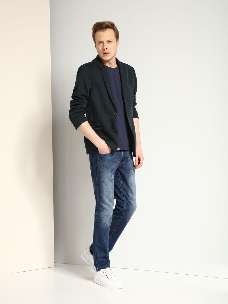 Футболка мужская Top Secret, цвет: темно-синий. SPO2966GR. Размер L (50) куртка мужская fresh brand цвет темно синий h3 df071 night blue размер l 50