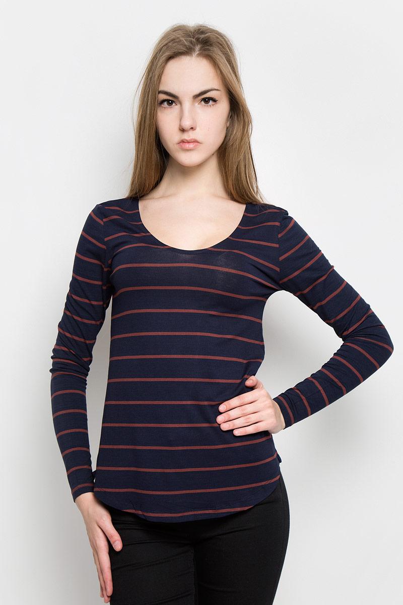 Лонгслив женский Broadway Olga, цвет: темно-синий. 10156881_541. Размер L (48) пуловеры broadway пуловер