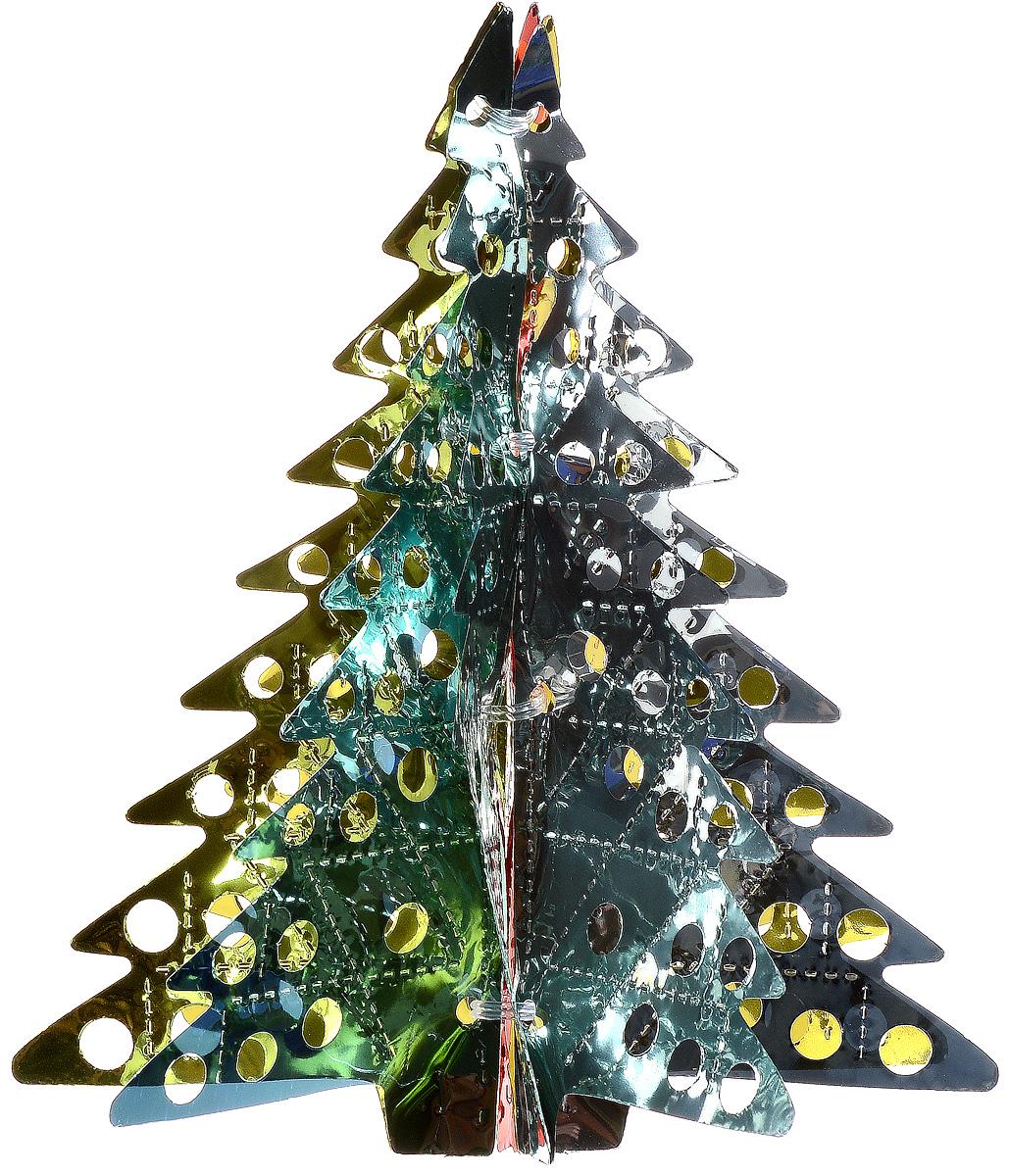 Украшение новогоднее подвесное Winter Wings Елочка, цвет: красный, желтый, бирюзовый, высота 26 смN09185_красный,желтый,бирюзовый,серебрянныйНовогоднее подвесное украшение Winter Wings Елочка, выполненное из разноцветного ПВХ, прекрасно подойдет для праздничного декора дома. С помощью специальной петельки украшение можно подвесить в любом понравившемся вам месте. Легко складывается и раскладывается. Новогодние украшения несут в себе волшебство и красоту праздника. Они помогут вам украсить дом к предстоящим праздникам и оживить интерьер по вашему вкусу. Создайте в доме атмосферу тепла, веселья и радости, украшая его всей семьей.