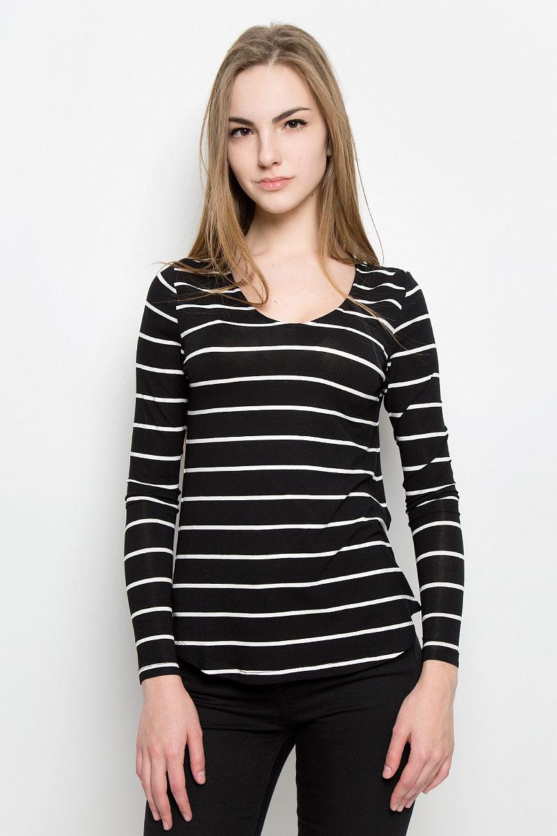 Лонгслив женский Broadway Olga, цвет: черный, белый. 10156881_999. Размер L (48) футболка broadway broadway br004emccos3