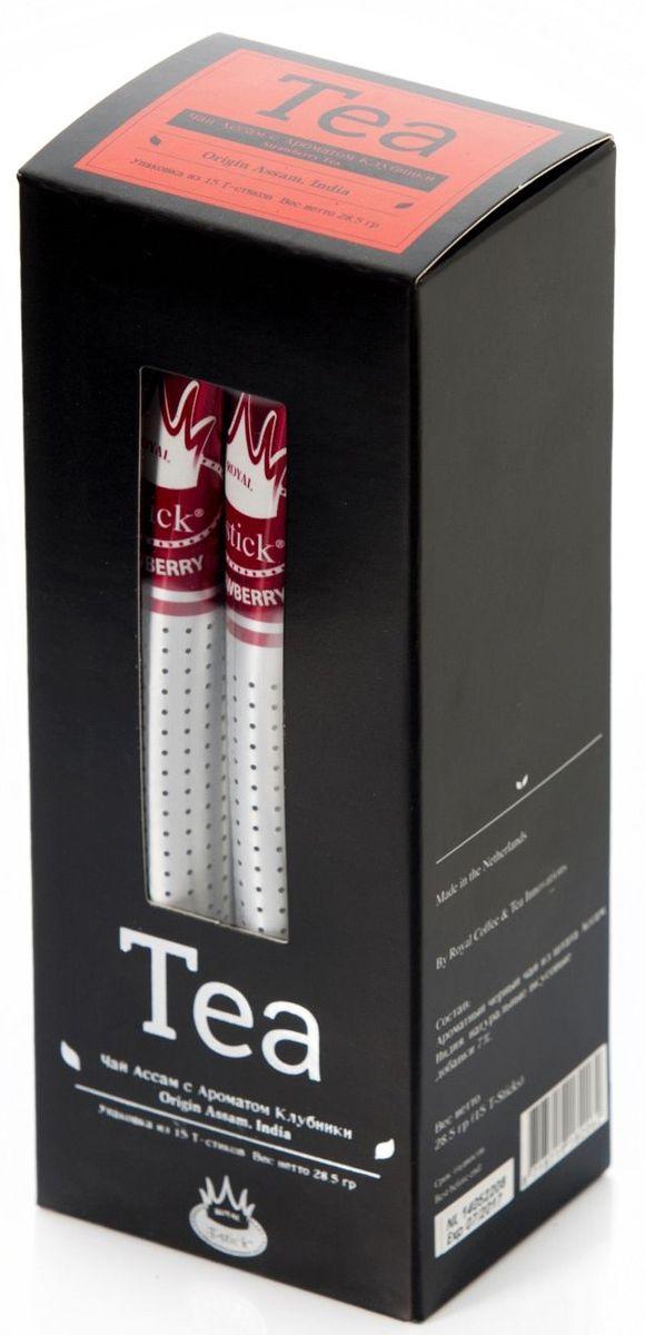 Royal T-Stick Strawberry Tea черный чай в стиках, 15 шт ñ‡ð°ð¹ royal t stick ñ‡ð°ð¹
