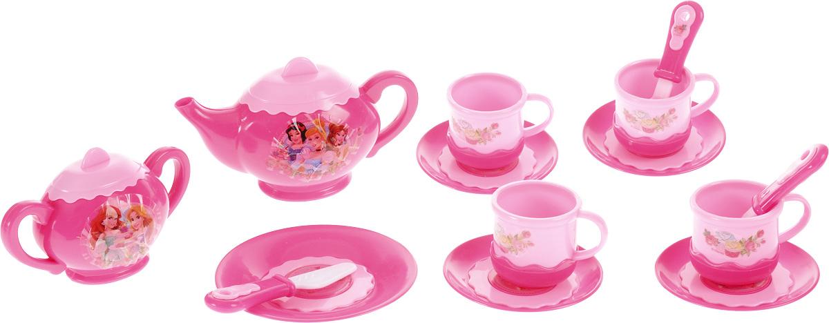 Играем вместе Игрушечный чайный набор Принцессы 14 предметов играем вместе игрушка пластм набор посуды принцессы дисней 14 предметов играем вместе